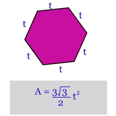 area of a hexagon