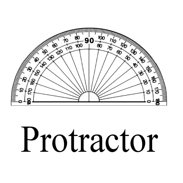 protractor, geometry construction