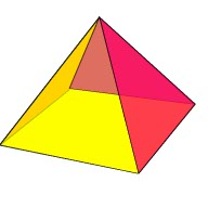 pyramid, geometric shape