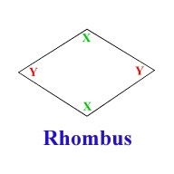 rhombus shape