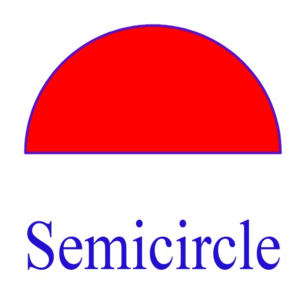 semicircle Colouring Pages