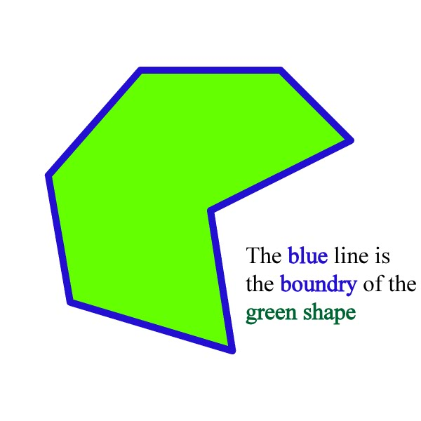 A Math Dictionary For K6 Geometric Terms