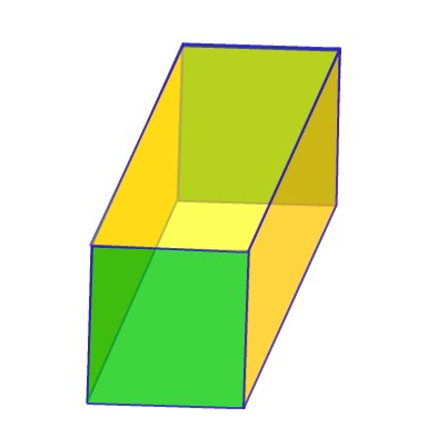 The square prism can be, but does not have to be a cube. If the length ...